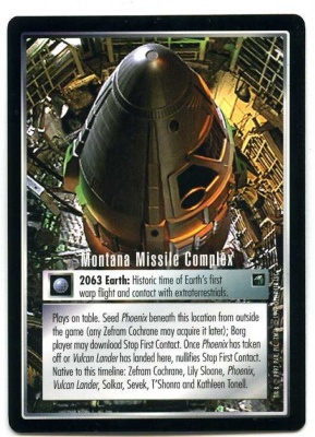 Star Trek CCG First Contact - Decipher 1997 - Montana Missile Complex - Time Locations - Rare - BB