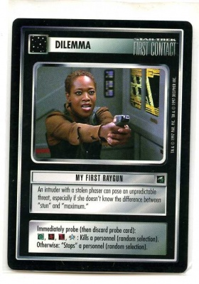 Star Trek CCG First Contact - Decipher 1997 - My First Raygun - Dilemmas - Rare - BB