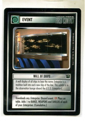 Star Trek CCG First Contact - Decipher 1997 - Wall of Ships - Events - Rare - BB