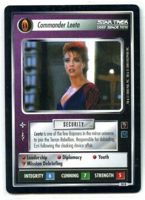 Star Trek CCG Mirror Mirror - Decipher 2000 - MT - Commander Leeta - Personnel - Rare - BB