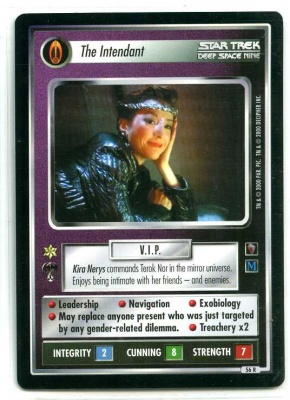 Star Trek CCG Mirror Mirror - Decipher 2000 - NM-MT to MT - The Intendant - Personnel - Rare - BB