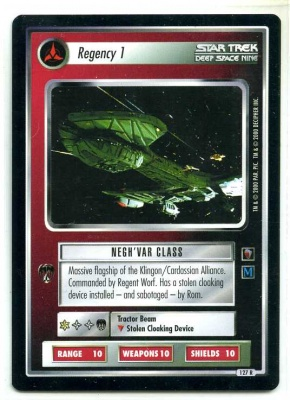 Star Trek CCG Mirror Mirror - Decipher 2000 - MT - Regency 1 - Starship - Rare - BB