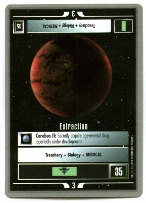 Star Trek CCG Premiere - Paramount 1994 - Extraction - Missions - Rare - SB