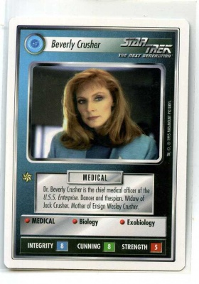 Star Trek CCG Premiere - Paramount 1995 - Beverly Crusher - Personnel: Federation - Rare - WB