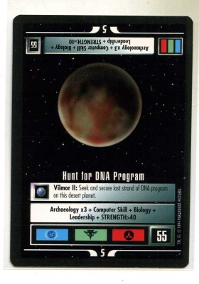 Star Trek CCG Premiere - Paramount 1994 - Hunt for DNA Program - Missions - Rare - BB