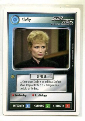 Star Trek CCG Premiere - Paramount 1994 - Shelby - Personnel: Federation - Rare - WB