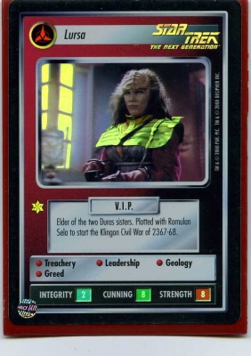 Star Trek CCG Reflections - Decipher 2000 - Lursa - Personnel: Klingon - Super Rare - Foil - BB