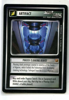 Star Trek CCG Rules of Acquisition - Decipher 1999 - Phased Cloaking Device - Artifact - Rare - BB