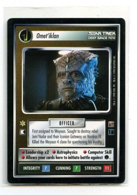 Star Trek CCG The Dominion - Decipher 1998 - Omet'iklan - Personnel: Dominion - Rare - BB
