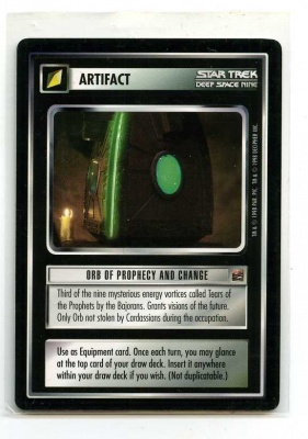 Star Trek CCG The Dominion - Decipher 1998 - Orb of Prophecy and Change - Artifact - Rare - BB