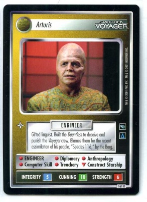 Star Trek CCG Voyager - Decipher 2001 - MT - Arturis - Personnel - Rare - BB