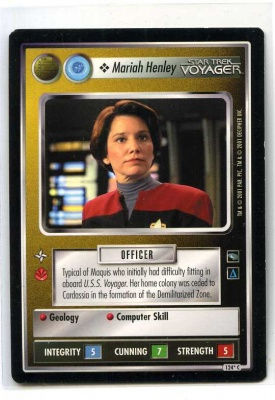 Star Trek CCG Voyager - Decipher 2001 - Mariah Henley - Personnel: Federation - Common - BB Alt Image