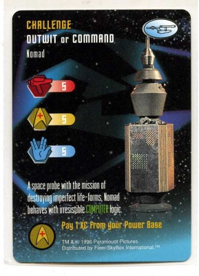 Star Trek TCG - Paramount 1996 - Nomad - Challenge - Outwit or Command - Very-Rare