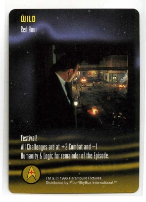 Star Trek TCG - Paramount 1996 - Red Hour - Wild - Rare