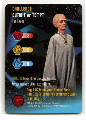 Star Trek TCG - Paramount 1996 - The Keeper - Challenge - Outwit or Tempt - Very-Rare
