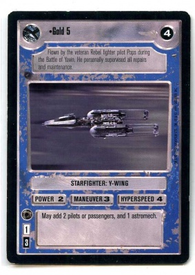 Star Wars CCG Premiere Limited - Decipher 1995 - Gold 5 - Starships - Light Side - Rare