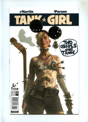 Tank Girl Two Girls One Tank #1 - Titan 2016 - NM- - Black Frog Variant Cvr