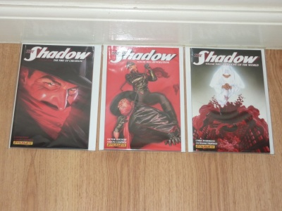 The Shadow Vol 1 to 3 - Dynamite 2012 to 2014 - VFN/NM to NM- - 3 Graphic Novels Fire of Creation - Revolution - The Light of the World