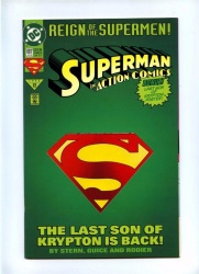 Action Comics 687 - DC 1993 - VFN - Superman - Die-Cut Cover + Poster