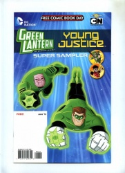 Green Lantern The Animated Series FCBD - DC 2012 - VFN/NM - Young Justice - Flip-Book Superman Family Adventures