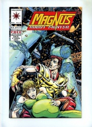 Magnus Robot Fighter #36 - Valiant 1994 - VFN - Includes Bound-In trading Card