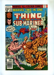 Marvel Two-In-One #28 - Marvel 1977 - Pence - Thing vs Sub-Mariner