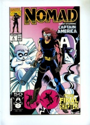 Nomad 4 - Marvel 1991 - VFN/NM - Captain America App