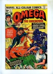 Omega The Unknown #1 + #2 - Marvel 1976 - 2 Comics - Incredible Hulk