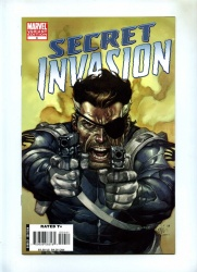 Secret Invasion #4 - Marvel 2008 - NM- - Variant cover by Leinil Francis Yu