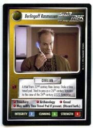 Star Trek CCG Alternate Universe - Paramount 1995 - Berlingoff Rasmussen - Personnel Non-Aligned - Rare - BB