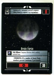 Star Trek CCG Alternate Universe - Paramount 1995 - Brute Force - Missions - Rare - BB