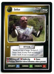 Star Trek CCG Alternate Universe - Paramount 1995 - Dathon - Personnel Non-Aligned - Rare - BB
