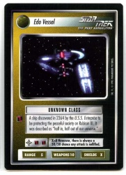 Star Trek CCG Alternate Universe - Paramount 1995 - Edo Vessel - Ships Non-Aligned - Rare - BB