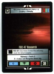 Star Trek CCG Alternate Universe - Paramount 1995 - FGC-47 Research - Missions - Rare - BB
