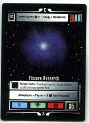 Star Trek CCG Alternate Universe - Paramount 1995 - Fissure Research - Missions - Rare - BB
