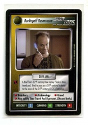 Star Trek CCG Alternate Universe - Paramount 1995 - Berlingoff Rasmussen - Personnel: Non-Aligned - Rare - BB