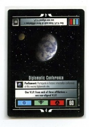 Star Trek CCG Alternate Universe - Paramount 1995 - Diplomatic Conference - Missions - Rare - BB
