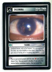 Star Trek CCG Deep Space 9 DS9 - Decipher 1998 - NM-MT to MT - Trauma - Dilemma - Rare - BB