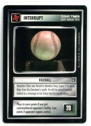 Star Trek CCG Deep Space 9 DS9 - Decipher 1998 - MT - Baseball - Interrupt - Rare - BB