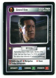 Star Trek CCG Deep Space 9 DS9 - Decipher 1998 - EX-MT to NM - General Krim - Personnel - Rare - BB