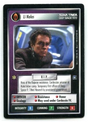 Star Trek CCG Deep Space 9 DS9 - Decipher 1998 - NM - Li Nalas - Personnel - Rare - BB