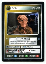 Star Trek CCG Deep Space 9 DS9 - Decipher 1998 - MT - Zef'No - Personnel - Rare - BB