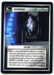 Star Trek CCG Deep Space Nine - Decipher 1998 - Airlock - Doorway - Rare - BB