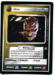 Star Trek CCG Deep Space Nine - Decipher 1998 - Altovar - Personnel Non-Aligned - Rare - BB