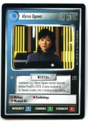 Star Trek CCG First Contact - Decipher 1997 - Alyssa Ogawa - Personnel Federation - Rare - BB