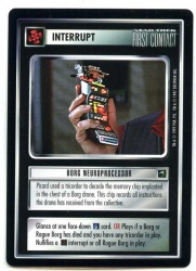 Star Trek CCG First Contact - Decipher 1997 - Borg Neuroprocessor - Interrupts - Rare - BB