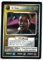 Star Trek CCG First Contact - Decipher 1997 - Lily Sloane - Personnel Non-Aligned - Rare - BB