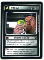 Star Trek CCG First Contact - Decipher 1997 - Magic Carpet Ride OCD - Artifact - Rare - BB