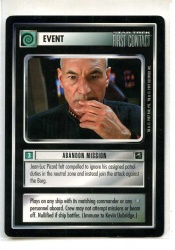 Star Trek CCG First Contact - Decipher 1997 - Abandon Mission - Events - Rare - BB