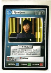 Star Trek CCG First Contact - Decipher 1997 - Alyssa Ogawa - Personnel: Federation - Rare - BB